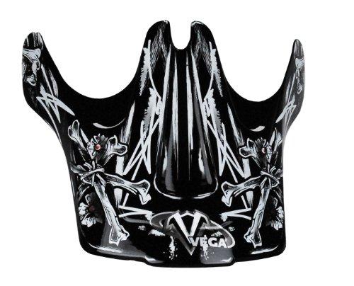 Vega Viper Junior Off-Road Helmet Visor with Skull'N'Bonz Graphic (Red)