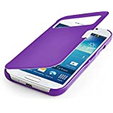 betterfon S-View Flipcover Samsung Galaxy S4 mini I9195 Lila Schutzhülle Case Cover Handytasche Flip Cover Hülle Tasche + gratis Displayschutzfolie