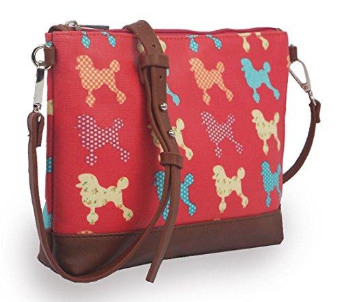 Pattern Bag Crossbody Size Mini Fuchsia With Bag Poodle Kukubird Handbag Dust Kukubird qw5ORvxx