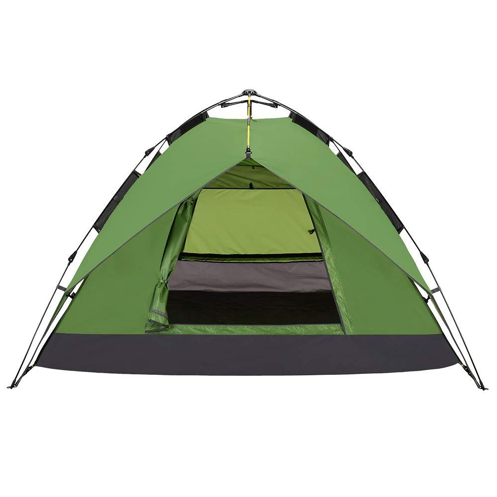 PELLIOT Pop Up Zelt-3-4 Leute Kampierendes Im Freien Regendichtes Familien-Geschwindigkeits-Offenes Automatisches Wasserdicht Camping Zelt