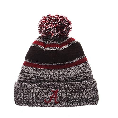NCAA Alabama Crimson Tide Men's Granite Knit Beanie, One Size, Black/Gray (Ncaa Embroidery Designs compare prices)