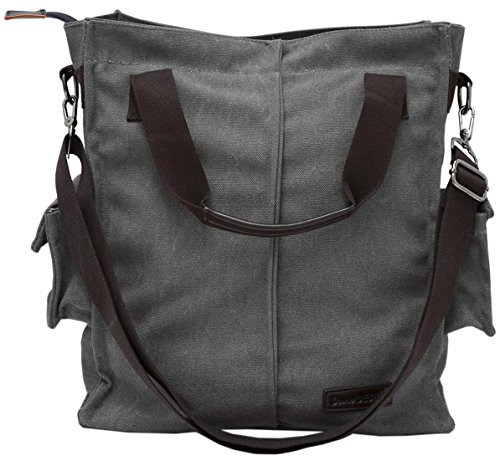 Hide Compartment Cross Secret With False Body to Grey with Bag XXL with Messenger Top handle 15x35x40cm Bottom Bag Large Valuables DuneDesign OUqZw751