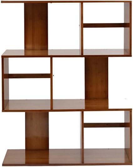 Biblioteca Sexy Estantería en Forma de S en bambú Estante ...