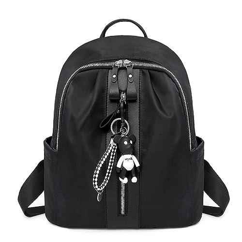 a6b61933d7 Baiyao Zaino Donna Borse a Zainetto Borse a Spalla in Nylon Zaino alla Moda  con Tracolla Casuale Daypack Borse a Mano Backpack Daypack per Scuola  Viaggio ...