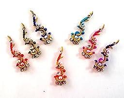 Stick On Ornament Bridal Bindi Forehead Stickers Body Art Tattoo Jewelry Bellydance - #02