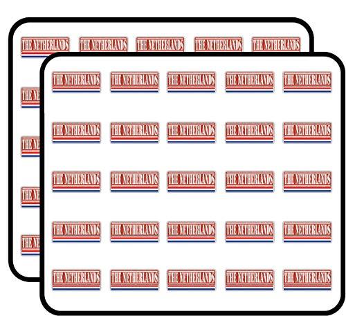 Netherlands Calendar The - Netherlands Grunge Travel Stamp Sticker for Scrapbooking, Calendars, Arts, Kids DIY Crafts, Album, Bullet Journals 50 Pack