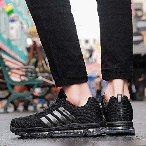 Running Chaussures Respirant Gris Homme Entraînement Mode Bleu Fexkean Baskets Noir De Femme Sport Atqdfgw