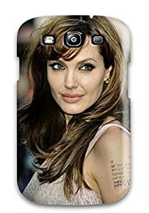 Galaxy High Quality Tpu Case/ Women Angelina Jolie WdQtIlL9925pTHth Case Cover For Galaxy S3