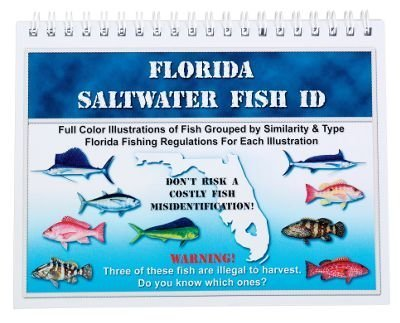 Saltwater Fish ID Laminated Book with 5 x 7-Inch Spiral Bound by Saltwater Fish ID