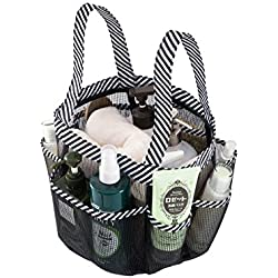 Shower Tote with Extra 9th Pocket. Okroo Shower Caddy Organizer with Quick Dry, Durable Polyester Mesh. Ideal for College Dorm, Communal Bathroom, Gym, Swimming Pool, Camping