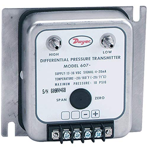 Dwyer 607-8 Differential Pressure Transmitter 0-10