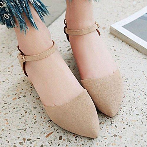 Sandali Scarpe Donna Cinturino Caviglia alla Moda Apricot RAZAMAZA CqwXZT