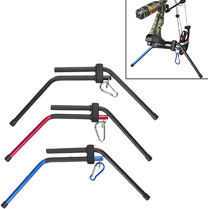 Details about  /Compound Bow Stand Holder Kick Legs Archery Target Shooting Bow Support
