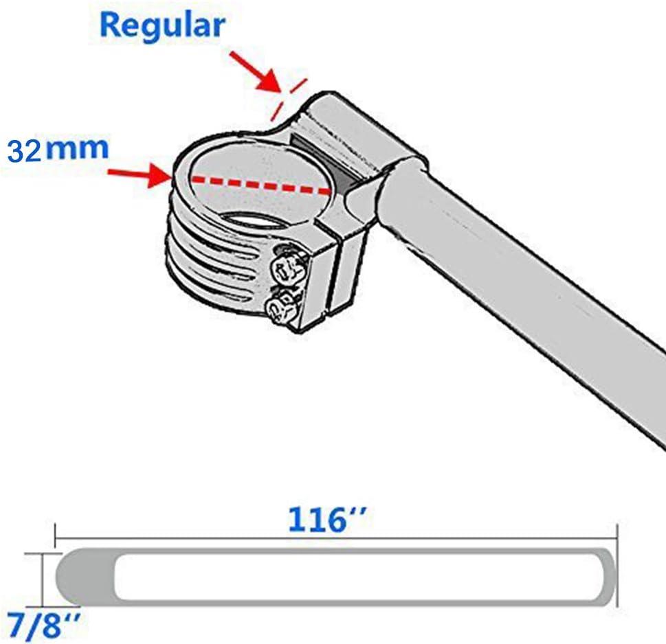CNC Tube de fourche standard en aluminium /à clipser sur le guidon Rempla/çable Convient pour moto universelle r/éguli/ère Noir 30 mm Noir