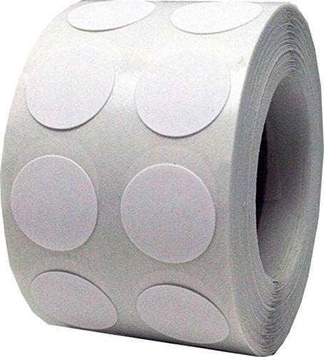 Blanco Círculo Punto Pegatinas, 1,27 Centímetros (1/2 Pulgadas) Redondo, 1000 Etiquetas en un Rollo