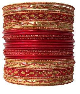 Set of Red Bangle Bracelets for Women Bangle Jewelry