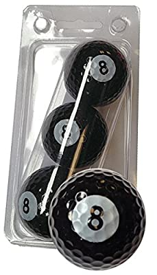 GBM Golf Sport Novelty 3 Ball Sleeve, 8-Ball