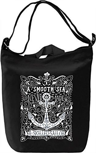 Skilled sailor Borsa Giornaliera Canvas Canvas Day Bag| 100% Premium Cotton Canvas| DTG Printing|