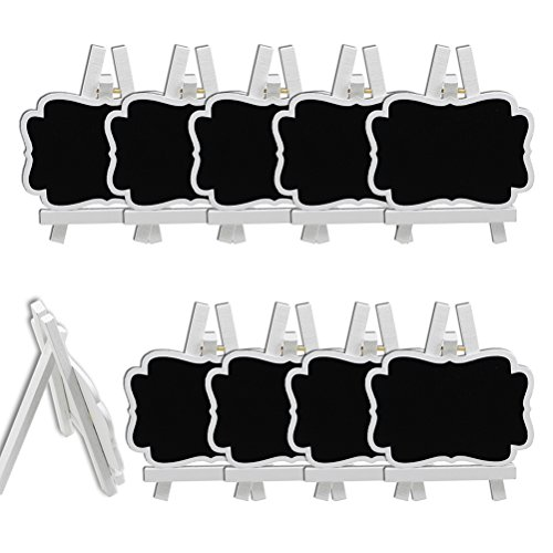 ROSENICE Mini Chalkboards Menu Display for Restaurant Wedding Table Place Card Signs 10pcs -