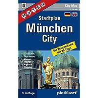 München City 1 : 10.000 Stadtplan: Innenstadtkarte mit 20 Sightseeing-Tipps, S- und U-Bahn-Plan, Museen, Theater, Shopping- und Nightlife-Tipps