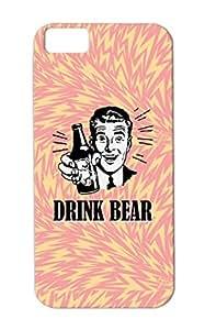 Shatterproof Funny Jokes Drink Bear Drunk Funny Drink Vintage Henris Henri Beer White For Iphone 5c DRINk BEAR Protective Hard Case