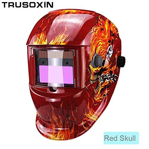Welding helmet|welding mask|Domino Solar Automatic Darken/Shading Grind/Polish TIG MIG MMA ARC Welding Mask/Helmet/Welder Glasses for Welder|By KALLAR -