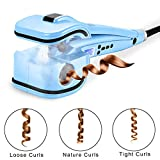 Natalie Styx Curl Machine with Ceramic Curling Chamber for Layer Wave Hair, Blue