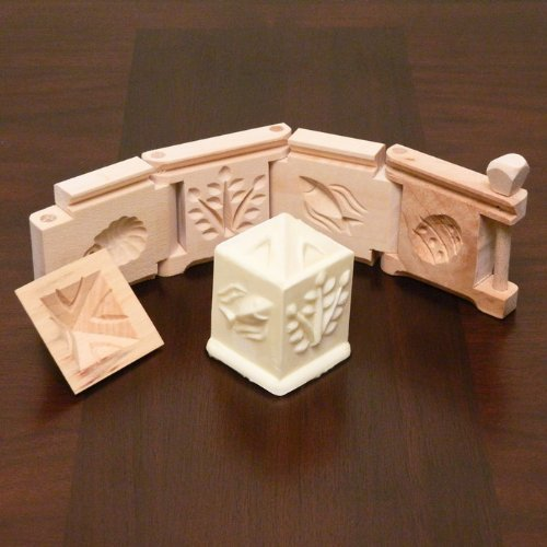 Wooden Butter Mold - Foldable Easter Square