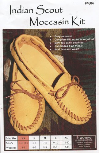 Leather Scout Moccasin Kit - Size 4/5 -XSmall Silver Creek Leather Company - Moccasin Kit