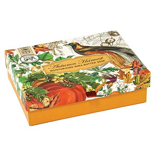 Michel Design Works Triple Milled Double Soap Box Set, Autumn (Harvest Design)