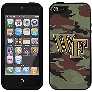 Wake Forest - Camo 1 design on a Black iPhone 5s / 5 Guardian Case by Coveroo