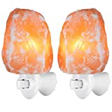 Tools & Hardware : AMIR Salt Lamp, Natural Himalayan Salt Rock Lamp, Mini Hand Carved Salt Crystal Night Light Wall Light with 2 Bulbs, UL Approved Wall Plug for Air Purifying, Bedroom Decoration and Lighting, 2 Pack
