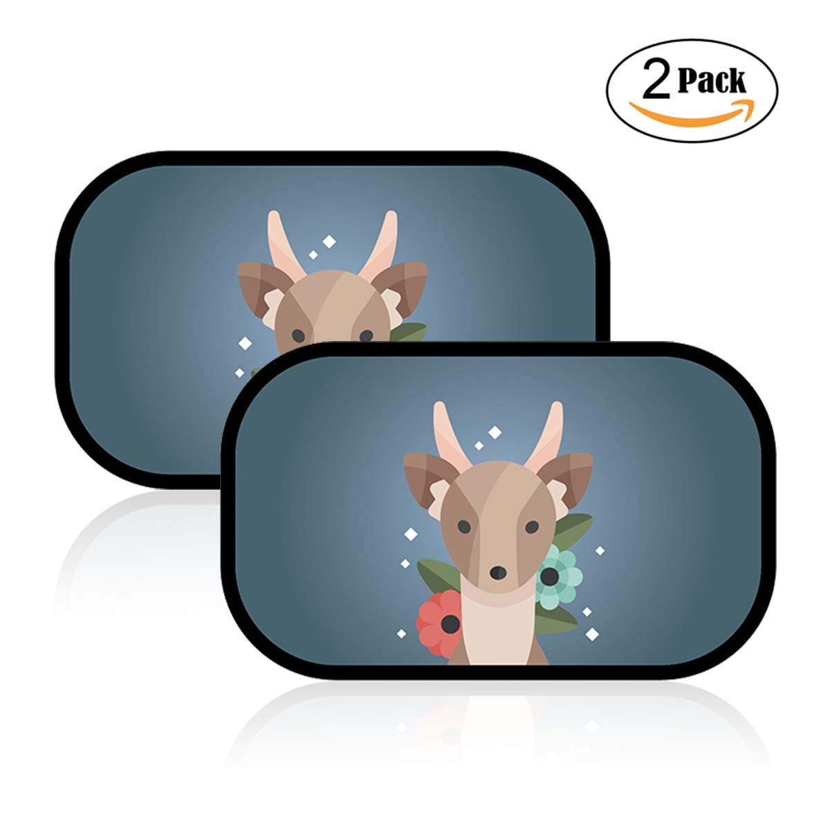 JIURUN Car Sun Shade for Kids (2 Pack)- Three layers of thickened fabric can block more than 99% of the harmful UV/sun / glare, Fits Most Cars! 50 * 30cm
