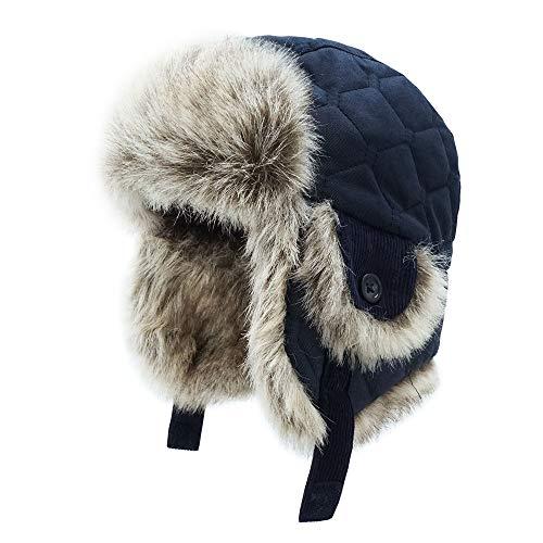 Keepersheep Baby Boy Ushanka Earflap Winter Trooper Hat Cap, Kids Trapper Hat (7-10T, - Trapper Hat Check