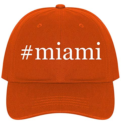 The Town Butler #Miami - A Nice Comfortable Adjustable Hashtag Dad Hat Cap, Orange
