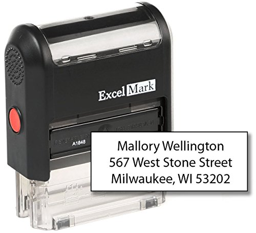 ExcelMark Custom Self Inking Rubber Stamp - Home or Office (A1848-3 - Gem Stamp