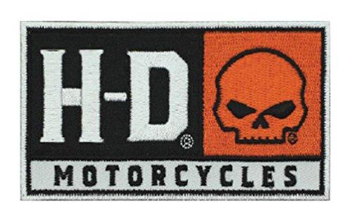 Harley-Davidson Embroidered H-D Skull Emblem Patch, SM 4 x 2.25 in. - Patch Emblem