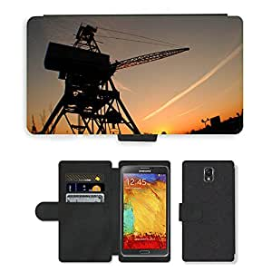 PU LEATHER case coque housse smartphone Flip bag Cover protection // M00421567 Puesta del sol de Brooklyn de Nueva // Samsung Galaxy Note 3 III N9000 N9002 N9005