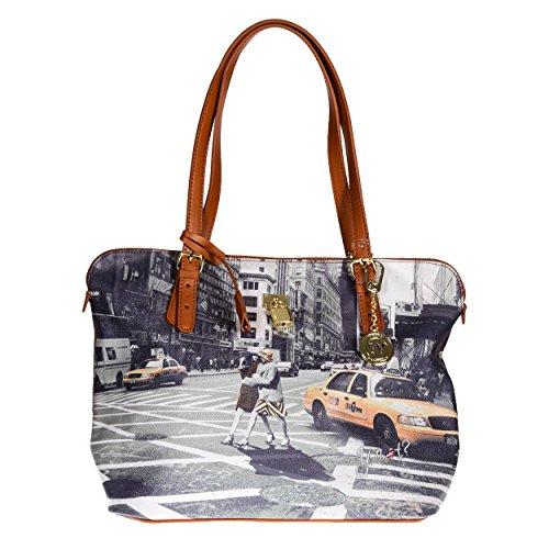 Y NOT? Shopping para la mujer de cuero sintético Nueva York Paseo en N.Y.