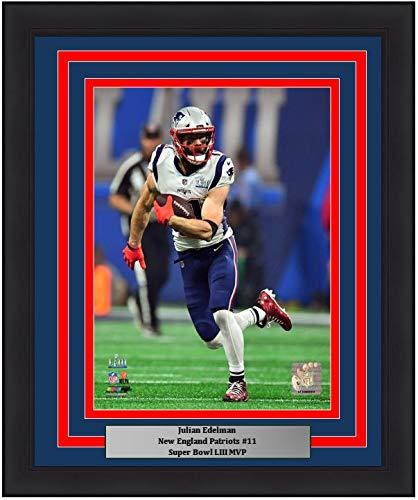 "Patriots Julian Edelman Super Bowl LIII MVP Action 8"" x 10"" Framed and Matted Football Photo"