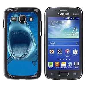 Paccase / SLIM PC / Aliminium Casa Carcasa Funda Case Cover para - Shark Jaws Teeth Vicious Blue Underwater - Samsung Galaxy Ace 3 GT-S7270 GT-S7275 GT-S7272