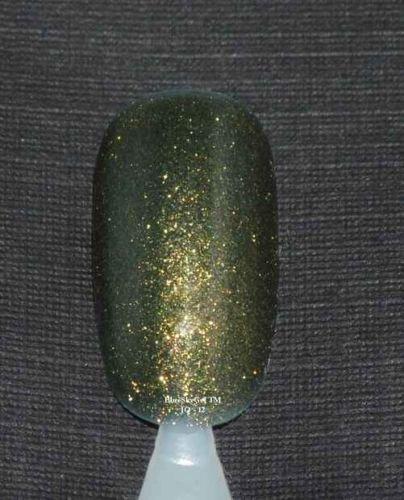 Bluesky Soak Off UV LED Gel Nail Polish DEEP GREEN COPPER HINTS Glitter 10ml J12