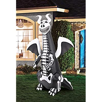 Occasions 7' Inflatable Skeleton Dragon: Toys & Games