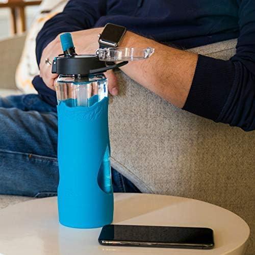 American Made Filter Removes Chemicals 24oz Lead VOC Cryptosporidium /& 99.99/% of Tap Water Contaminants Giardia PFOS Escape Glass Filtered Water Bottle BPA Free PFOA Chromium 6