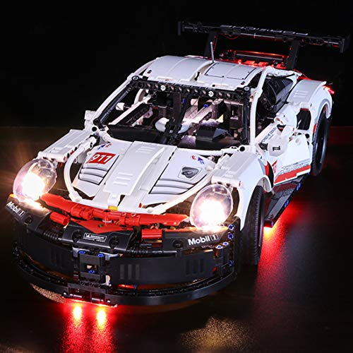 (FenglinTech LED Light Kit for Lego Technic Porsche 911 RSR 42096 Building Kit (Lego Set Not Included, 3rd Party Lego)