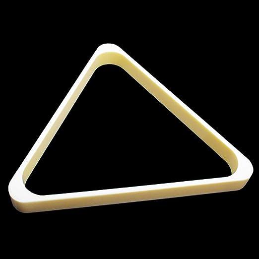 16 Bola Profesional Billar triángulo Accesorios American Pool Ball Rack 57.2mm / 2-1/4 Rack de Bolas de péndulo ABS Resistente Duradero/Estante para Billar Blanco Marfil: Amazon.es: Hogar