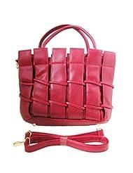 TADA Planet PU Leather Lady Shoulder Handbag