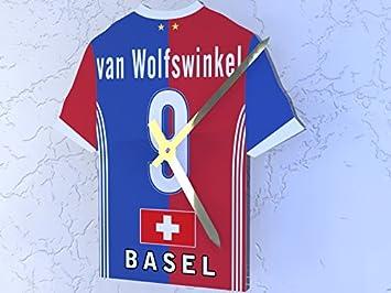 Swiss Raiffeisen Super Liga equipos - Camiseta de fútbol reloj - cualquier nombre, cualquier número, cualquier equipo, plástico, FC Basel: Amazon.es: ...