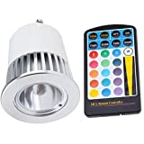 5W Multi-Color Remote Control Color Changing LED Light Bulb GU10 - 16 Colors
