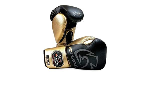 Rival Boxing Guantes RS100 Blanco Oro Entrenamiento Combate Profesional